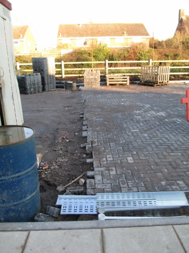 Porous paving was used for the main car park areas