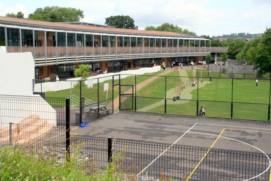 Figure 1 Exwick School playing fields and SuDS
