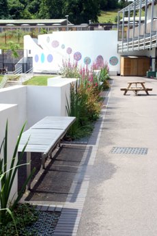 Figure 3 SuDS features as part of the landscaping of the school playground