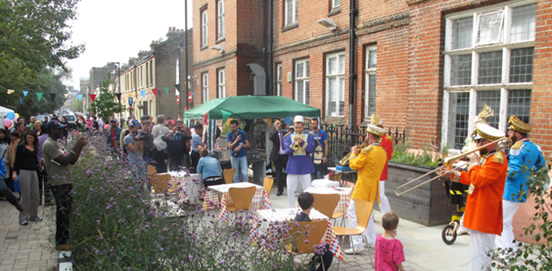 Figure 20: Street Party in the Pocket Park, to Celebrate 130 years of Oxford House