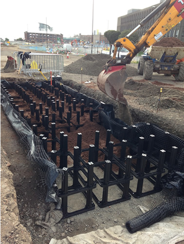 Soil Cells - SuDS in Sunderland